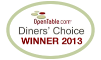 OpenTable Diners Choice Award 2013