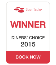 OpenTable Diners Choice Award 2015